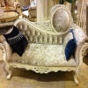 Elegant curved wood carved Chaise lounge GS-G-F-01
