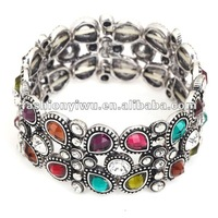 Stretchable bangle bracelet with rhinestone 2013 spring fashion jewelry