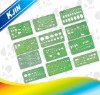 Green plastic template design ruler