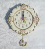 New desgin christmas decor resin wall clock wholesale fast delviery