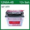 JIS Standard 12V 9AH Motorcycle Battery (12N9A-4B)