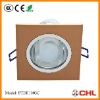 Modern gold square cfl ceiling dwon light