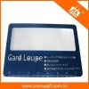 Magnifying business card magnifier