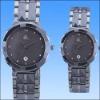 2012 fashion couple tungsten steel watch