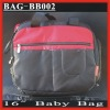 "(BAG-BB002) 16"" Black 420D Twill Moms Baby Diaper Bag"