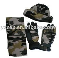polar fleece set/fleece hat scarf gloves