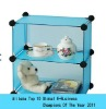 2012 hot sale cute blue rwo layers DIY storage cabinet