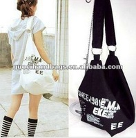fashion cheap promotional cotton canvas shoulder bag