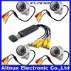 4ch USB Security DVR recorder + 4 Camera IR Surveillance CCTV camera H71+ M10