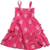 Smocked flower dress (A+B+C)(4362017)(child garment,child wear)