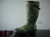 camo printing rubber boots