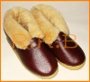 Woolen leather warm shoes for women