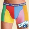 Man's underwear, spandex boxer briefs