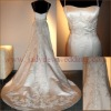 Hot Selling Embroided Bridal dress with Spagetti Straps HS007