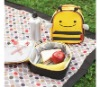 Insulated Animal Print Backpack Lunch Bag For Kids-Bee