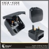TRAVEL PLUG PC8338 Black The BEST BS5733 EU to UK Travel Adapter
