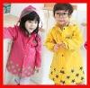 2012 Wholesale Raincoat Kids 100% Waterproof Raincoat Hoode