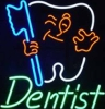 neon dentist sign