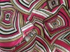 Satin fabric printed with stripe