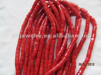 natural red coral beads shaped tube