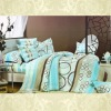 100% cotton printed bedding sets comforter set 4pcs