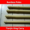 clearly seeing yellow color PE filmed packing good bamboo pole