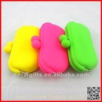 Layies/Girl 2012 Charming Color Silicone wallet/purse no minimun