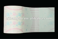 Breathable Film with Slitting Eye Baby Diaper Use