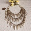 Hollywood star favorite individual vintage multilayer spike necklace