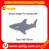 shark shape soft foam PU stress ball