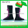 Women canvas boots in black