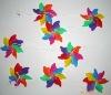 Seven Colours Plastic Garden windmill string