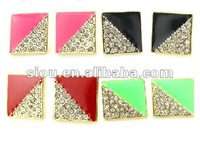 Jewelry wholesale jewelry square diamond stud earrings for girls