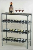 Chrome NSF Bar Wine Shelf / Bottle Holder