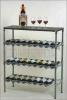 Chrome NSF Bar Wine Shelf / Bottle Holder