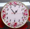 2012 Best seller resin craft time wall clock /clock with hands/antique clock/, clock movement