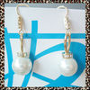 2012 fashion pearl earring with rhinestone real gold plating
