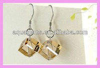 (SWA52) Square rhinestone earrings jewellery