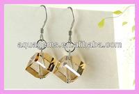 (SWA52) Square rhinestone earrings jewellery