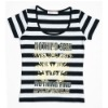 Cotton T-shirt/women T-shirt, black strips.