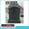Top Polished Carving Headstone with Standard Base
