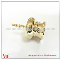 OEM design shiny golden or silver painted zinc alloy perfume caps