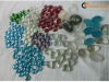 pool color glass beads