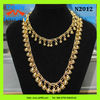 indian golden jewelry necklace design,long plated pure gold beads ball chain necklace