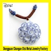Manual Original Ceramic Pendant Necklace With Braided Rope,Fllower Pendant
