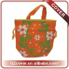Orange Flower Nonwoven Drawstring Bags In Guangzhou