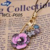 Antique Costume Jewelry Alloy Charm Diamond with Golden Chain Crystal Flower Pendant