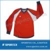 High performance V neck and rib collar football tops long sleeve t shirts