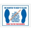 disposable auto use anti-slip plastic foot mats for cars