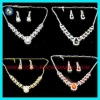 Rhinestone colored 18 carat gold jewelry sets